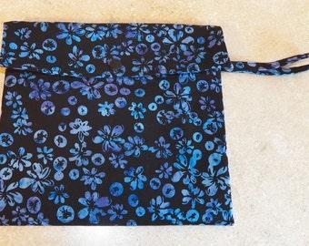 Dual Pocket Wetbag- Blueberry Batik- 5002