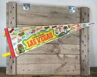 Vintage Las Vegas Pennant Banner, Felt Fabric, Souvenir, Wall Pennant, Vintage Pennant, Gambling Pennant, Pennant Flag, Wall Hanging