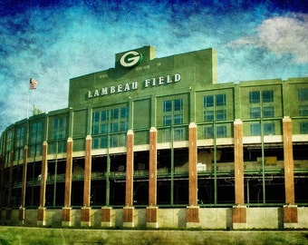Lalalalalala Lambeau Field, Green Bay Packers, Fine Art Photo, Aaron Rodgers, Super Bowl, NFL - Home Decor