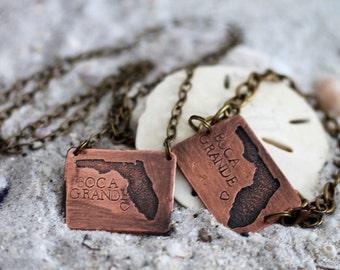 Florida Beach Jewelry Gift Set - CopperJewelry Gift Set - Copper GIft Ideas for Her - BIrthday For Her Jewelry - Birthday Gift Ideas For Her