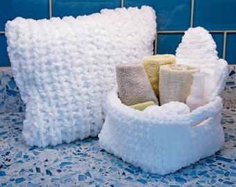 Rub A Dub Microfiber Undyed Yarn - Knitted Spa Gifts