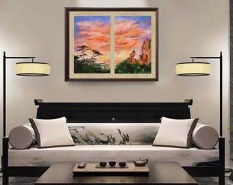 Landscape painting ,Original oil painting ,