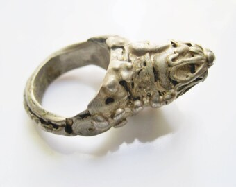 Vintage Rashaida Ring, Silver Bedouin Ring, Size 7, Yemeni Jewelry, Ethnic Jewelry - Size 8