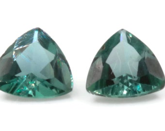Natural Alexandrite Matching Pair Certify Alexandrite Gemstone June Birthstone alexandrite loose stone color changing 4mm trillion 0.39ct