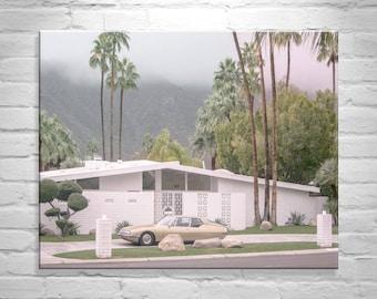Mid Century Wall Art, Palm Springs Art Photography, Midcentury Architecture Art, Citroen Car Photo, Vintage Citroen SM, Palm Springs Gift