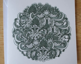 Lace design 1 blank greeting card