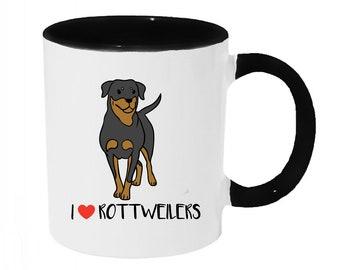 I love Rotteilers Coffee or Tea 11oz Mug - Perfect Gift for Dog Lovers