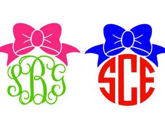 Bow Monogrammed Sticker