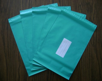 50 14.5x19 Teal Poly Mailers Self Seal Adhesive Strip Plastic Flat Glossy Bag Envelopes Shiny Waterproof Shipping Tear Proof Lightweight