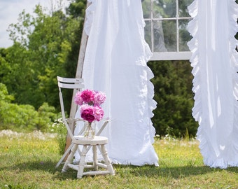 Ruffled Linens Ruffled Curtains