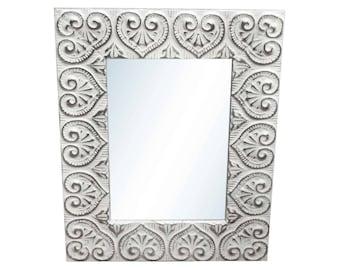 Heart Tin Mirror 24 in. x 30 in.