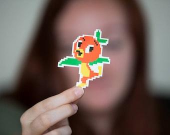 Pixel Disney Orange oiseau 3 pouces autocollant, donner la collecte de fonds monde pour enfants