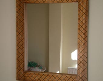 Hand carved wooden mirror.