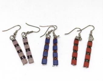Tila Earrings/ Beaded Earrings/ Handmade Earrings