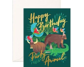 Party Animal Birthday Greeting Card