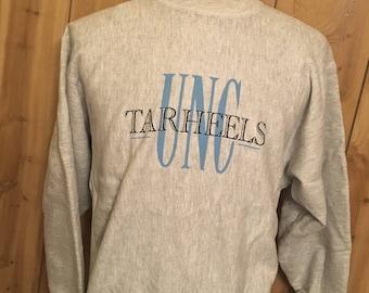 Vintage 80s University of North Carolina Tarheels 1980s Sweatshirt - throwback - college sportswear - basketball sweatshirt (XL)