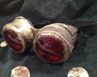 Steampunk goggles-Choose gold/silver/copper color halloween costume comiccon