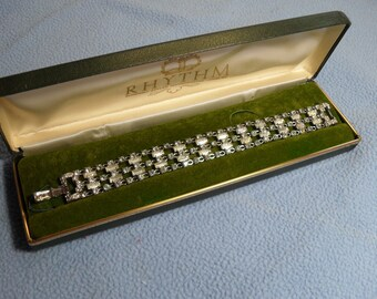SALE! Coro Wide Rhinestone Bracelet~Sparkling stones (was 20.00)