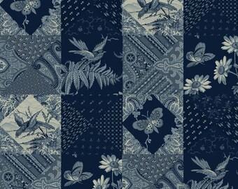 Meadow Main Blue -  by Riley Blake Designs  - you choose the cut