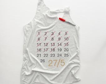 Roller Derby Shirt || 27/5 Roller Derby Tank || Fresh Meat || 27/5 Countdown Shirt || Roller Derby Skater || Roller Derby Clothing