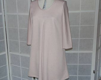 Line 3/4 sleeved dress in structured Jersey pink