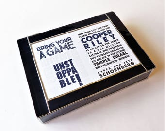 Bar Mitzvah Invitation Stained Glass Keepsake Gift Box Handmade Custom Made-to-Order 8x10x2
