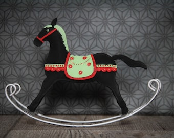 Horse rocking/rocking horse for doll/doll House Dollhouse