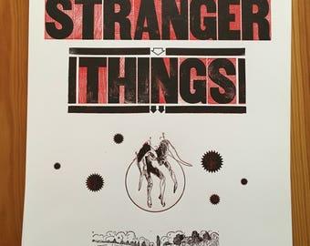 Stranger Things letterpressed poster