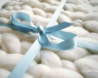 Chunky Merino Wool Mini Blanket XXS