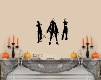 """The Walking Dead (with Michonne and her pets) Wall Decal-(13"""" X 11"""")"""