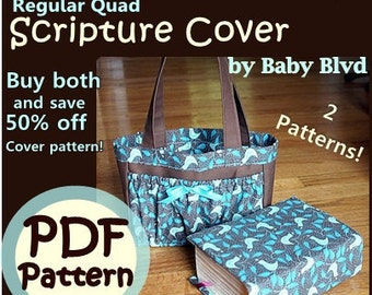 Pocket Tote and LDS Regular Quad Cover PATTERNS/ Tutorials