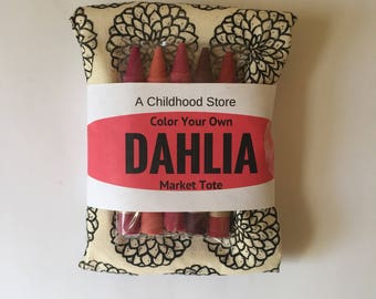 Dahlia Color Your Own Market Tote Kit