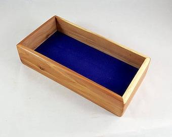 Mens Valet Box, Wooden Keepsake Box, Valet Box, Men's Valet, Keepsake Box, Wooden Jewelry Box, Wood Treasure Box, Jewelry Box Mens