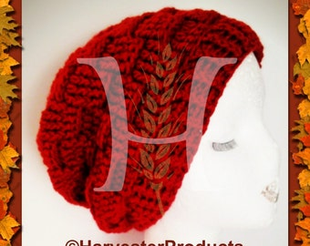 Hook and Plank Crochet Slouchy Hat Pattern