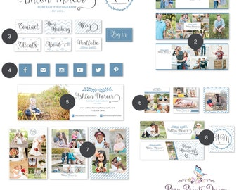 Social Media Marketing Set for Photographers -  Marketing Kit  - Photography Templates - Logo Included -  INSTANT DOWNLOAD