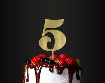 Birthday Cake Topper, Number 5, Cake Topper, Anniversary, Birthday