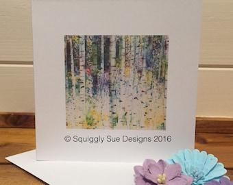 Birches Card