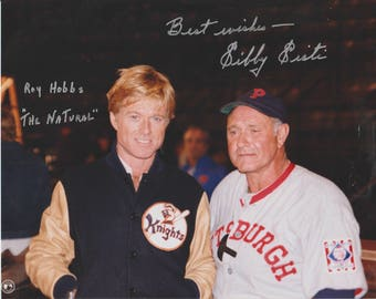"Sibby Sisti Signed Autographed Color Photo, ""The Natural"" with Robert Redford, 8x10 Photo"