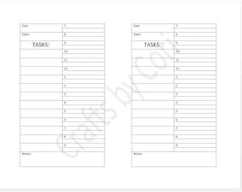 "Undated Daily w/ half-hour time slots & task list Half-Sheet 8.5""x5.5"""