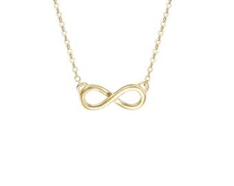 Infinity necklace, Infinity gold  necklace,  Infinity  Charm , Infinity gold charm , Infinity jewelry, gold charm, gold necklace
