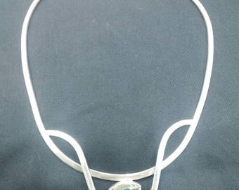Modern silver necklace