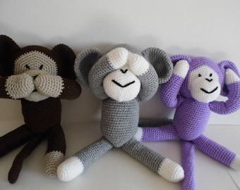 Cute cheeky monkeys, Crochet Monkey, Amigurumi Monkey, Stuffed Monkey, Crochet Toys