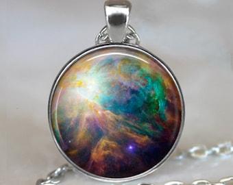 Orion Nebula necklace, celestial jewelry nebula jewelry astronomy pendant cosmic jewelry star galaxy jewelry key chain key ring key fob