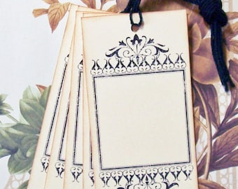 Tags Ornate Frame Shabby Chic Vintage Style Party Favor Gift Tags Wedding Wish Tree Handmade T001