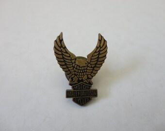 VINTAGE 1990s HARLEY davidson eagle lapel jacket vest PIN