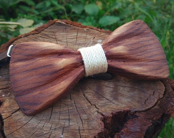 Wooden Bow Tie 3D Ukrainian Gift / Unique Design / Gift For Men / Wedding Wood Bowtie / Wooden Bowtie / Mens Bow Tie - 100% Premium Quality