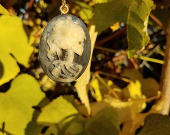 Lolita Day of the Dead Cameo pendant with glossy finish
