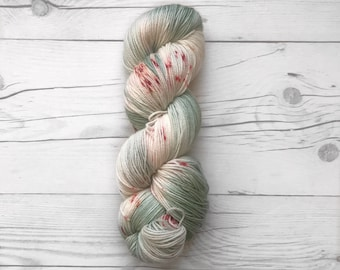 "Maven Sock - ""Cactus Fever"" - Fingering Weight - Hand Dyed Yarn"