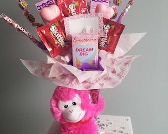 Valentine's day candy arrangement