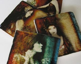 Coasters Her Longing stone coaster set